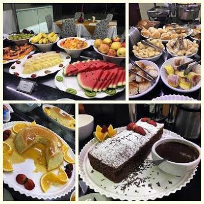 Café da manhã delicioso no hotel