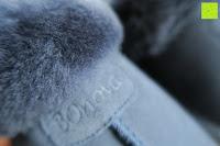 flauschig: BOnova® Helsinki - Warme und kuschelige Hausschuhe aus echtem Lammfell in 5 Farben für Damen