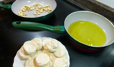 Ensalada templada de queso de cabra