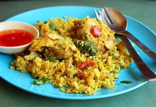 CHICKEN BIRYANI AT KHAO MOK GAI