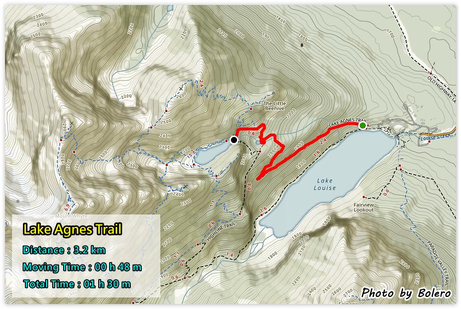 加拿大洛磯山脈2-3】Lake Agnes Trail 阿格尼絲湖步道