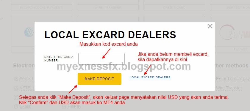 cara deposit excard 3 exness malaysia