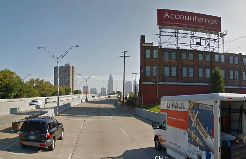 Grabs Courtesy Of Google Maps Showing Where This Sign Was Located Near The Sway Below And To Left Billboard On Van Roy Building
