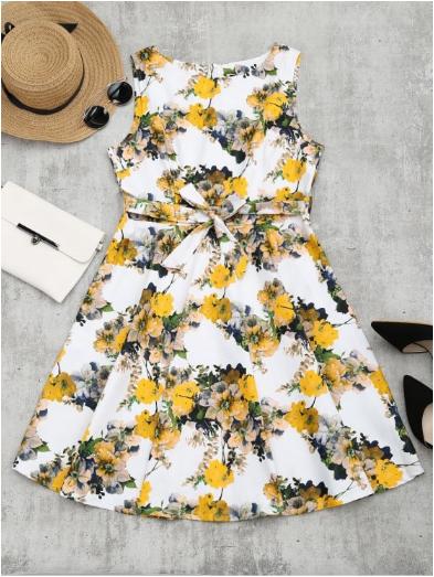 Wishlist Zaful: Floral Retro Dress