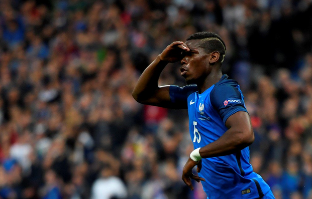 Selebrasi Pogba kala mencetak gol kedua bagi Perancis