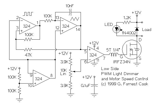 12v Low Side And High Side Pwm Motor Light Controller