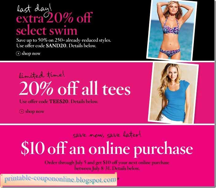 It's just a photo of Decisive Victoria Secret Coupon in Store Printable
