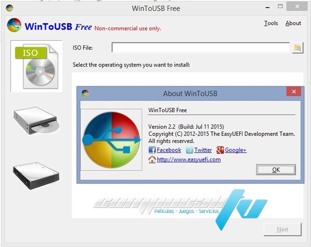 WinToUSB v2.2 Pasar Windows a una USB