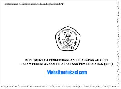 Implementasi Pengembangan Kecakapan Abad 21 dalam RPP