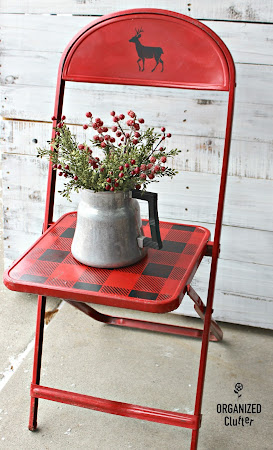 Stenciled Vintage Thrift Shop Folding Chair