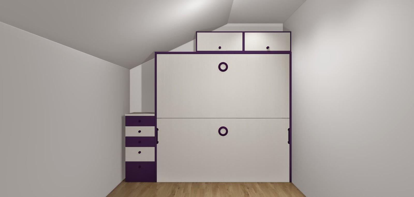 Dise o de cuartos o dormitorios juveniles - Literas abatibles lagrama ...