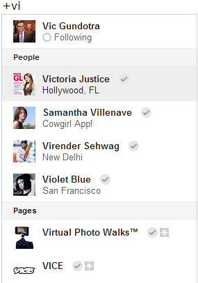 google+ profiles and pages