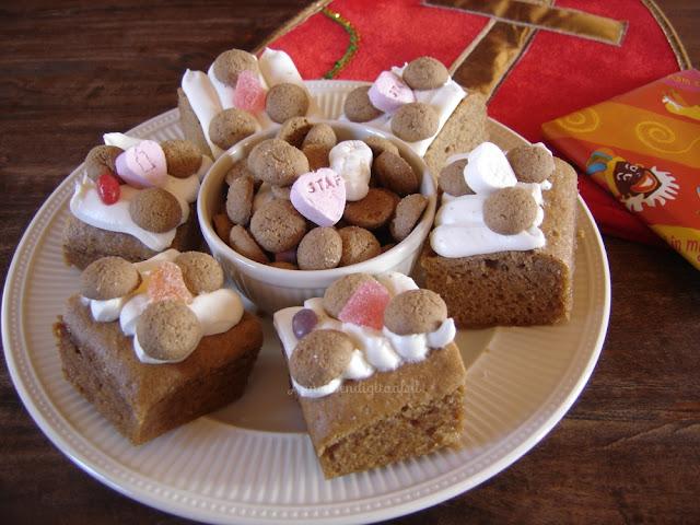 Sinterklaas taart zelf maken, pepernoten taart, taart voor sinterklaas