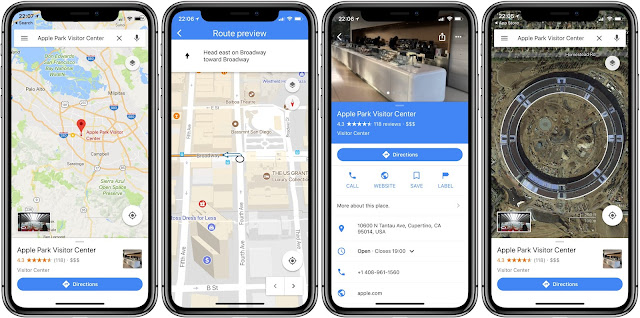 Google Maps iPhone X support