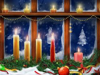 decorar ventana navideña