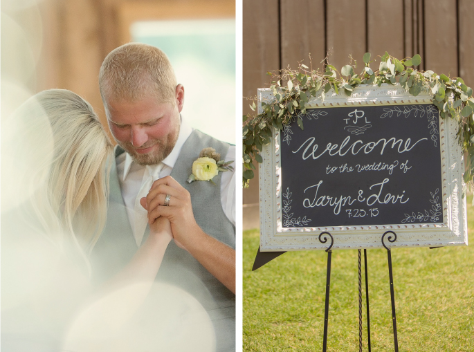 Wedding Sign / Flowers by Mac's Floral / Photography: Tracy Moore Photography