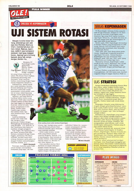 UEFA WINNER CUP 1998 CHELSEA VS KOPENHAGEN