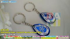 Gantungan Kunci Kaligrafi Berlian Heart Blue