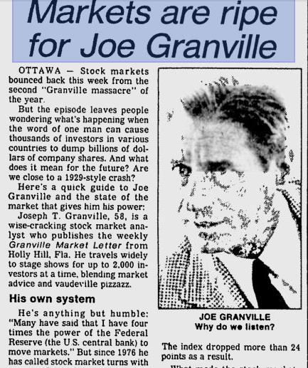 the stock market emperor joseph granville