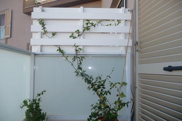 La mia craft room divisori per terrazzo finiti for Divisori per terrazzi