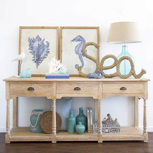 Console Table Coastal Styling Ideas