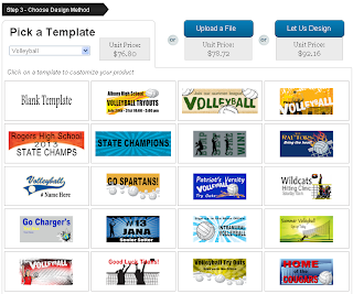 Pick a Volleyball Banner Template to Customize
