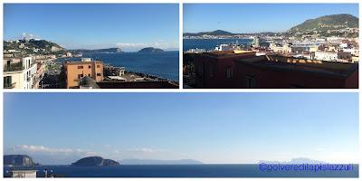 Panorama che si ammira dal Rione Terra in una giornata di sole