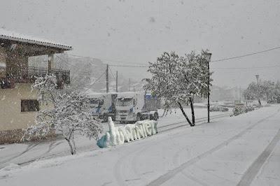 Beceite, Fuck Winter, Primera nevada del 2013, noviembre