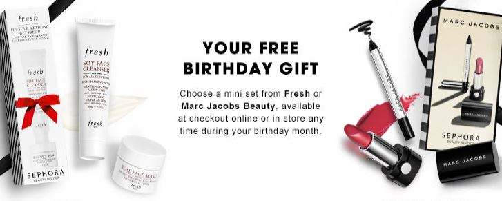 Sephora Offers Two Choices For Your Free 2016 Birthday Gift