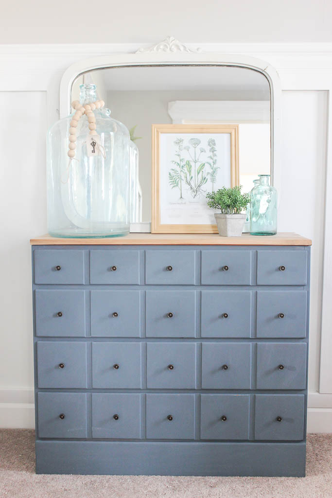 card catalog dresser makeover