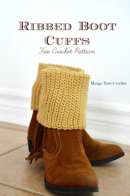 Boot cuffs crochet pattern