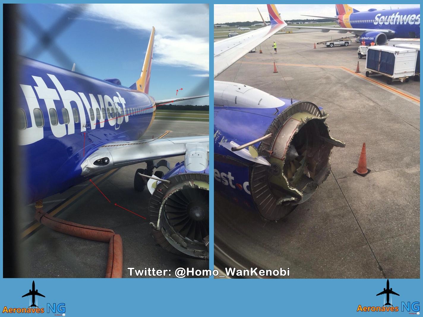 AF66 Paris Los Angeles a380 perte de la soufflante en vol Boeing%2B737-7H4%2B-%2BN766SW%2B-%2B27-8-2016%2B%25282%2529