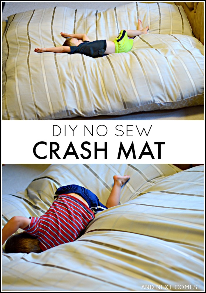 Diy No Sew Crash Mat Sensory Hack For Kids And Next