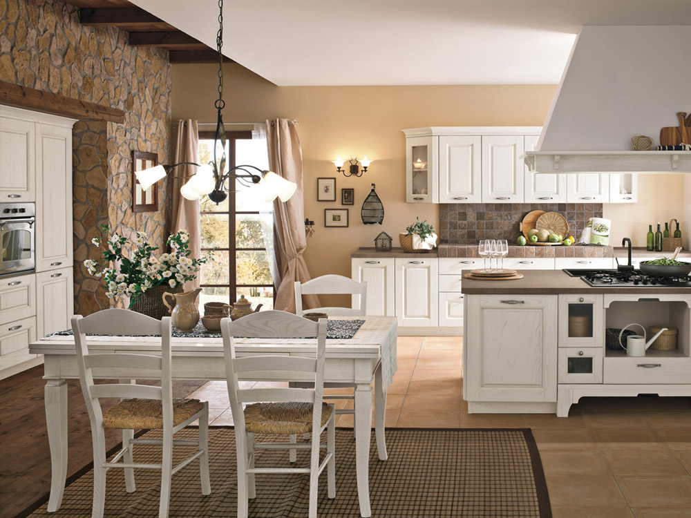 La cucina di oggi bella e pratica shabby chic interiors for Stile country francese