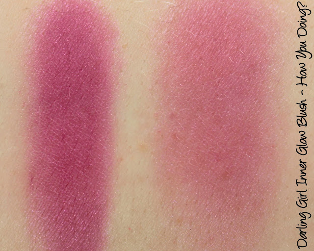Darling Girl Friends Central Inner Glow Blushes - How You Doin'? Swatches & Review
