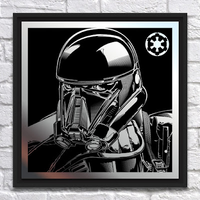 Star Wars: Rogue One Death Trooper Laser Engraved Metal Print by Joshua Budich