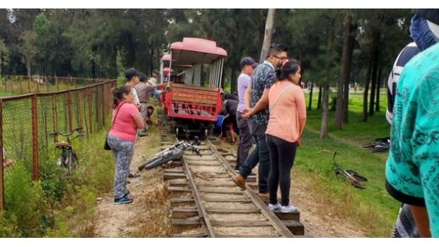 Descarrilamiento del tren al interior del Bosque San Juan de Aragón