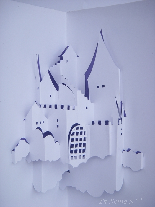 Origamic Architecture Kirigami Pop Up Card Castle