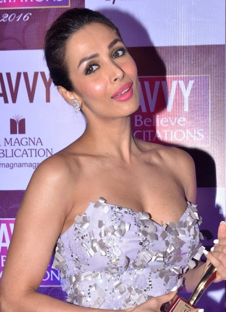 Malaika Arora Khan in Strapless Ghassan Antonios Gown for Felicitation Event