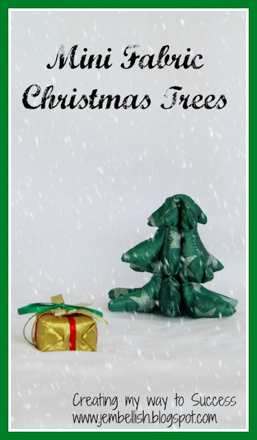 Mini Fabric Christmas Trees