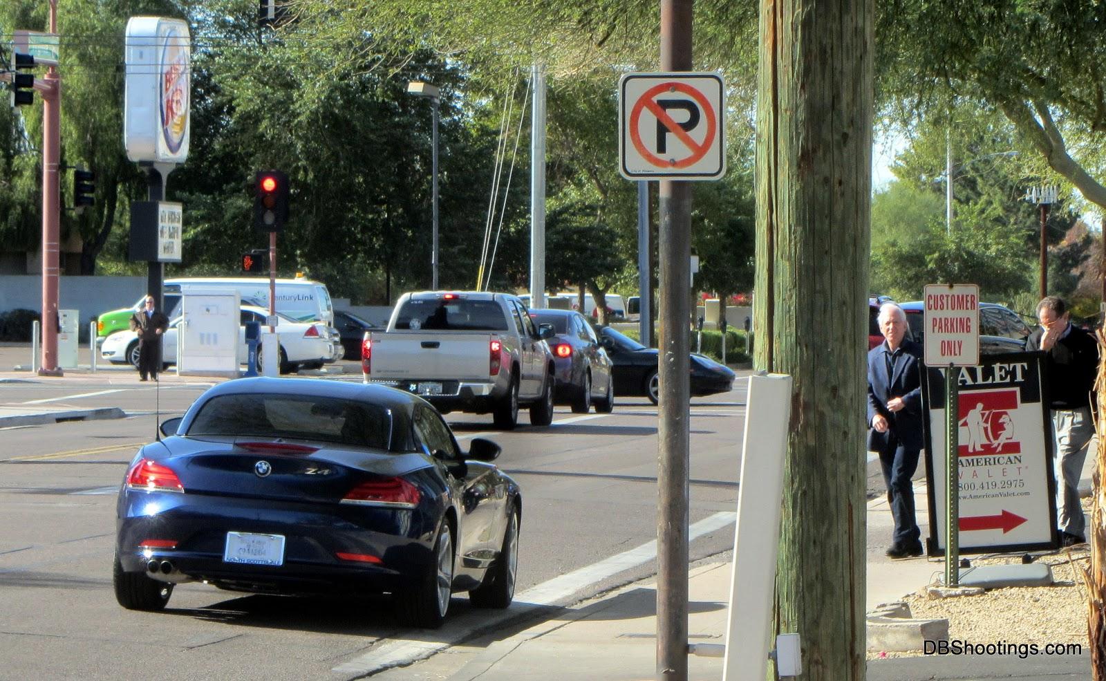 BMW Z4 parking violation