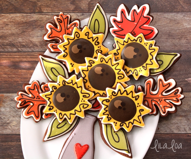 Quick and easy decorated scribble sunflowers and leaves for fall!! -- Tutorial