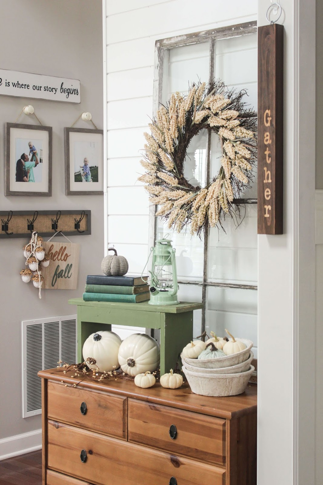 fall decor tour blogger