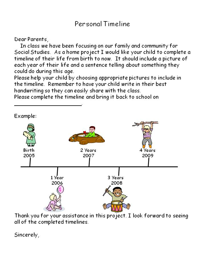 Timelines For Kids Template | New Resume Format 2013 Free Download