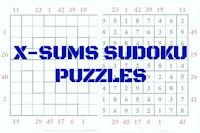 X-Sums Sudoku Variation Puzzles