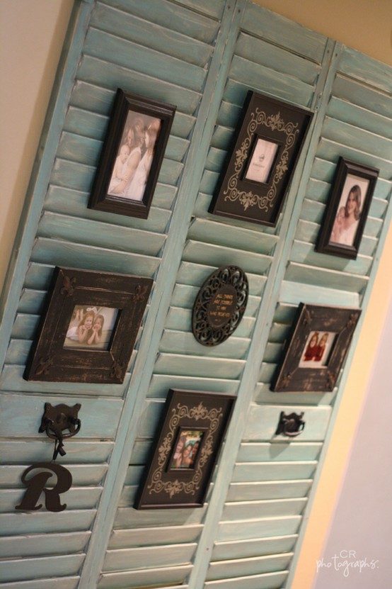 dishfunctional designs upcycled new ways with old window shutters - Shutter Designs Ideas