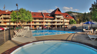 Pool & Kiddie pool at downtown Gatlinburg hotel