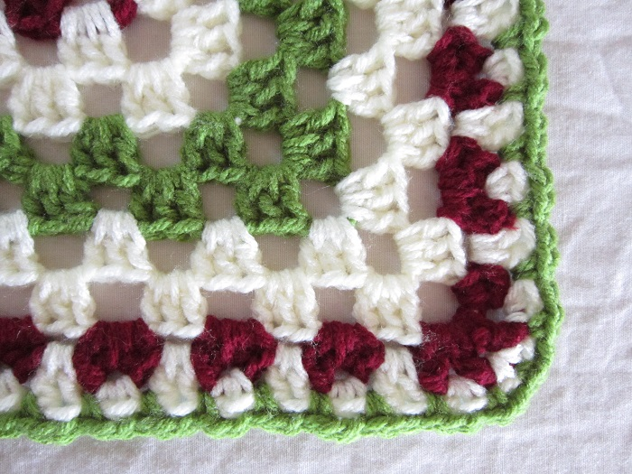 granny square, split-shell stitch, crochet, Mom's Afghan
