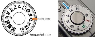 وضعية التقريب أو الأجسام الصغير (Macro Mode):