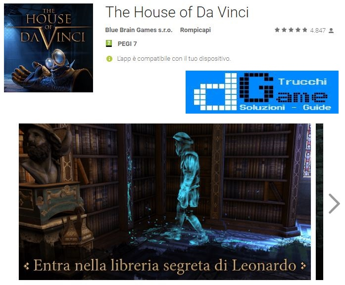 Soluzioni The House of Da Vinci